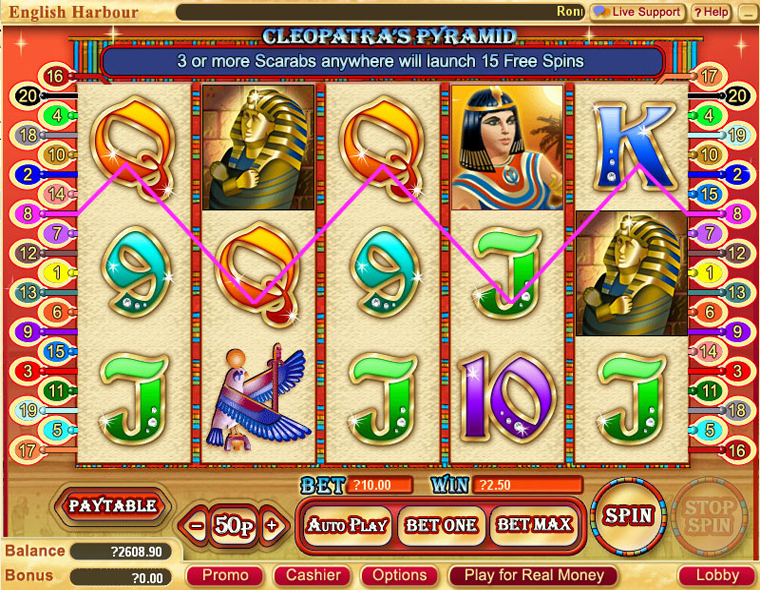 Spelmaskin Cleopatra – Spela Cleopatra Online, Gratis eller med Riktiga Pengar